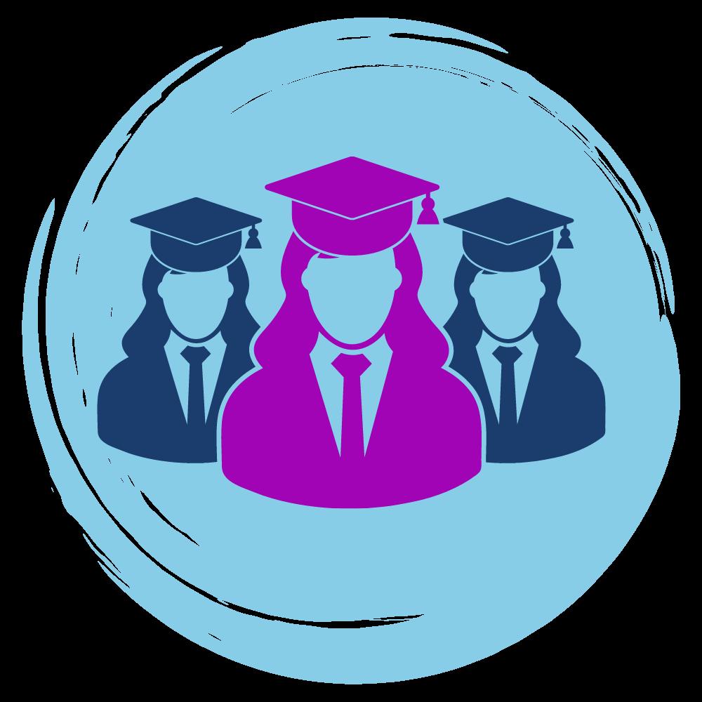 icon of graduate students