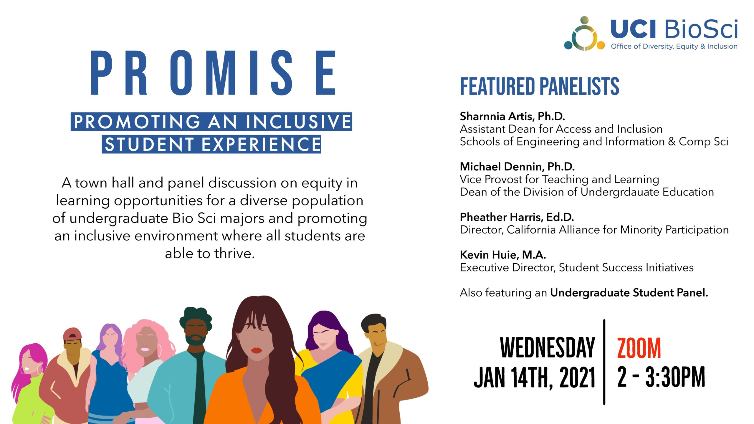 PROMISE event flyer for the 1/14/21 event.