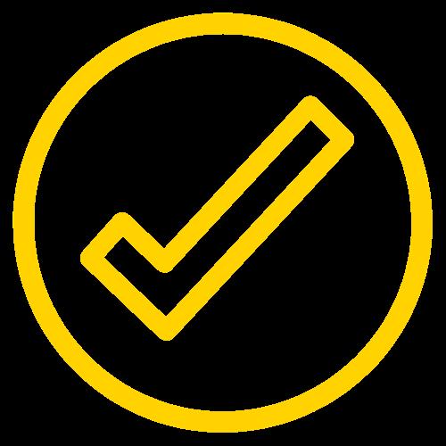 yellow check mark